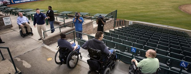 Mercer County Waterfront Park, home of the Trenton Thunder, where changes have been made to make the facility more wheelchair friendly.